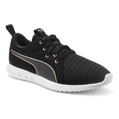 PUMA Carson 2 Metallic Women's Running Sneakers, Size: 6.5, Black