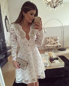 Here, I want to share 15 Sexy Short Wedding Dresses for Style Lovers. Certainly, sexy short wedding dresses are the best for your wedding Pretty Dresses, Beautiful Dresses, Civil Wedding Dresses, Lace Dress, White Dress, Short Dresses, Formal Dresses, Mode Outfits, Homecoming Dresses