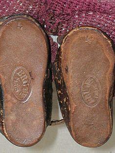 Antique Bru Jne # 4  Doll shoes and the  original stockings