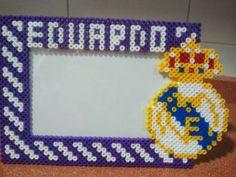 Marco de fotos  personalizado 10x15, tema Real Madrid en hama midi