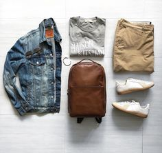 """508 Likes, 18 Comments - Kim Dudley (@kayrozaythinks) on Instagram: """"Denim button down is another one of my staples. Love the dark denim with the brown chino. Tap once…"""""""