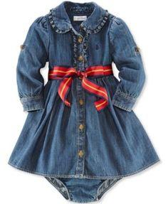Ralph Lauren Baby Girls' Denim Shirtdress
