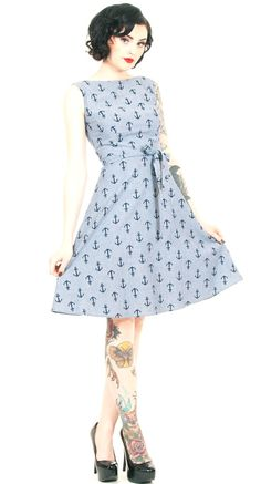 Heart of Haute Monique Dress in Chambray Anchor