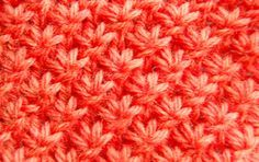 How To Knit Star Stitch In The Round.