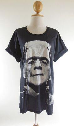 Frankenstein TShirt  Zombie Shirt Monster Horror by panoTshirt, $17.00