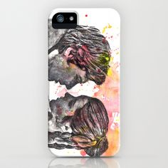 Han Solo and Princess Leia from Star Wars iPhone & iPod Case by idillard - $35.00