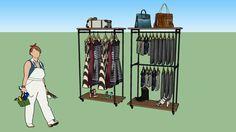 Amplia vista previa del modelo 3D de Arara de roupas