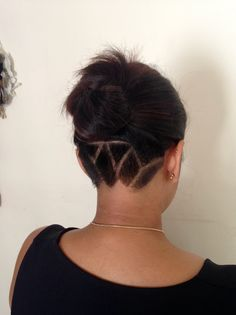 Rishuta's #undercut and #lotus pattern #hairtattoo