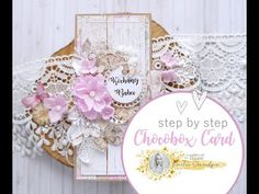 Chocolate Box Card & Video Tutorial - Lady E Design First Communion Cards, Chocolate Card, Lace Flowers, E Design, Swirls, Scrapbook Paper, Ideas Para, Packaging, Tutorials
