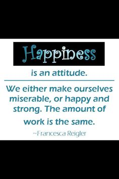 It is all about attitude