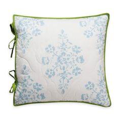 Royal Heritage Home® Gabriella Floral Square Throw Pillow - BedBathandBeyond.com