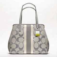 Pretty much in love here....  Hmw Signature Stripe Medium Tote