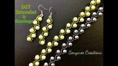 Pearl vine Bracelet & Earrings Updated video for Beginners.Super Easy Tu...