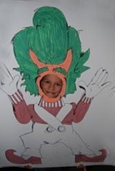 Willy Wonka Party Photos - Oompa Loompa Face Cut-out
