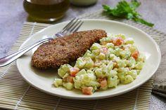 Přílohový květákový salát s majonézou