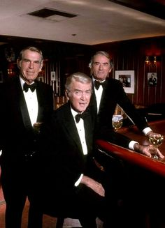 Fred MacMurray, Jimmy Stewart, and Gregory Peck ~ Hollywood royalty