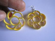Handmade Jewelry - Paper Quilling Flower Earrings (Free Form Quilling) (2) | by fah2305