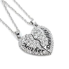 BeOne®Plated Silver Mother Daughter Best Friends Forever Full CZ diamond Heart with Two Chains Pendant Necklace Engraved Letters Gift (White) BeOne http://www.amazon.com/dp/B014F0N354/ref=cm_sw_r_pi_dp_Te84vb0NXNEXW
