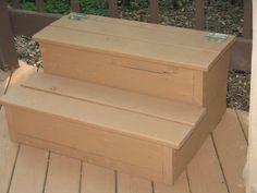 Steps for tub w/storage