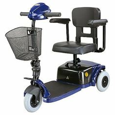 CTM HS125 3 wheel Scooter, Blue by CTM. $697.72. Small and lightweight best describes the 3-wheel HS-125 that will fit easily in a car trunk for convenient transportation. The body frame is strong and stable with an expandable floorboard to provide extra legroom. With a one-piece battery pack module powering the electronic controls, safe operation is ensured. Even our smallest model carries the biggest features with: self diagnostics, programmable and slope compensation. Spe...