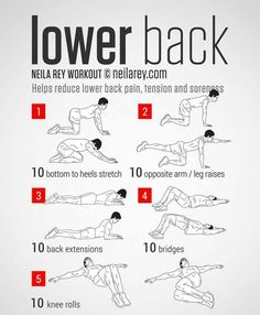 Lower back exercises to relieve soreness and pain