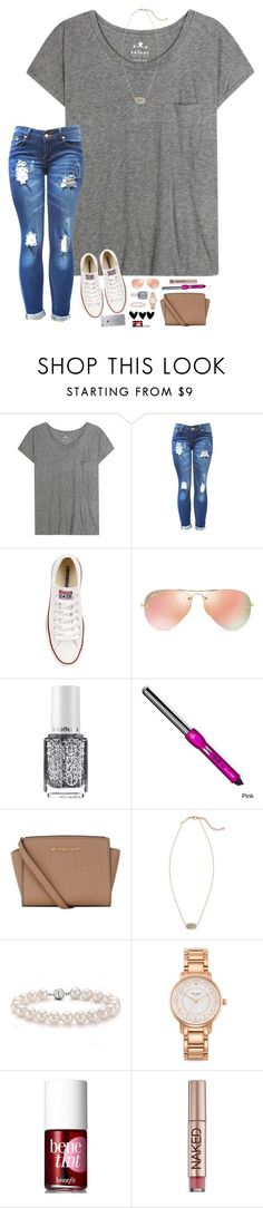 First Day in Paris! by hopemarlee ❤ liked on Polyvore featuring Velvet, Converse, Ray-Ban, Essie, MICHAEL Michael Kors, Kendra Scott, Bling Jewelry, Kate Spade, Benefit and Urban Decay