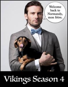 Rollo's cleaned up for Season 4. lol    #vikings #clivestanden  Translation 'Welcome back to Normandy, my brother' Vikings on HISTORY - Community - Google+