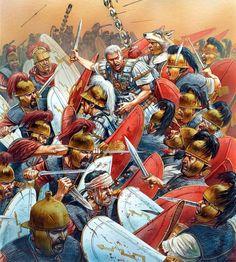 45 a.C.- Batalla de Munda. Autor: Peter Dennis
