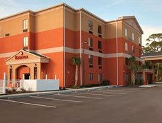 ramada inn.  still across the bridge, but closer. $40 for two queens. $60 for two kings.