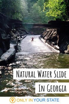 an unforgettable outdoor experience in Georgia, head to this incredible natural water slide. Part of a larger swimming area with an inflatable water park, this is a perfect place for family fun. Vacation Places, Vacation Trips, Vacation Spots, Day Trips, Beach Trip, Vacation Ideas, To Infinity And Beyond, Future Travel, Viajes