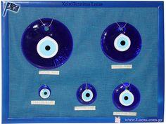 Γυάλινα μάτια σε διάφορες διαστάσεις  Glass evil eye Greek souvenirs Music Instruments, Beads, Souvenir, Beading, Musical Instruments, Bead, Pearls, Seed Beads, Beaded Necklace