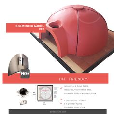 DIY Segmented Model ( Modular Pizza Oven) External diameter: x Internal diameter: Weight: 800 lbs Let's be clear. Would you like to have control of your pizza oven? Your finishing. Your color scheme. Your design. Oven Diy, Diy Pizza Oven, Pizza Ovens, Outdoor Pizza Oven Kits, Oven Design, Bread Oven, Backyard Fireplace, Gas Oven, Stainless Steel Doors