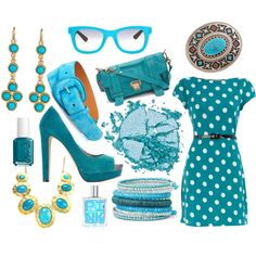 color.me.turquoise., created by emily-mensing on Polyvore