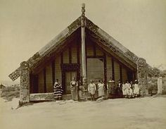 Tamatekapua meeting house, Ohinemutu by Josiah Martin Nz History, Local History, Old Photos, Vintage Photos, Once Were Warriors, Rotorua New Zealand, Polynesian People, Maori People, Old Portraits