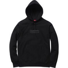 95c35338de27 Supreme Box Logo Pullover Hoodie Black
