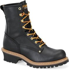 "Carolina Men's 8"" Black Logger Work Boots - HeadWest Outfitters"