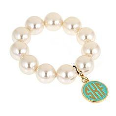 Monogram Candy Bracelet ($40) ❤ liked on Polyvore