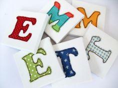 Childrens Name Letters - White - Mini Canvas Nursery Decor - door letters - door £3.00
