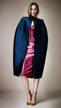 Satin Sculptural Trench Cape | Burberry spring 2013