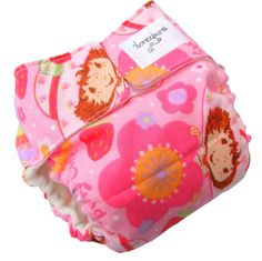 Strawberry Shortcake AIO Cloth Diaper with Velcro PUL - XS 3 Months Newborn Infant