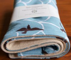 Organic Cotton soar print and organic cotton flannel burb cloths