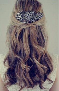 Wedding hair accessory style.