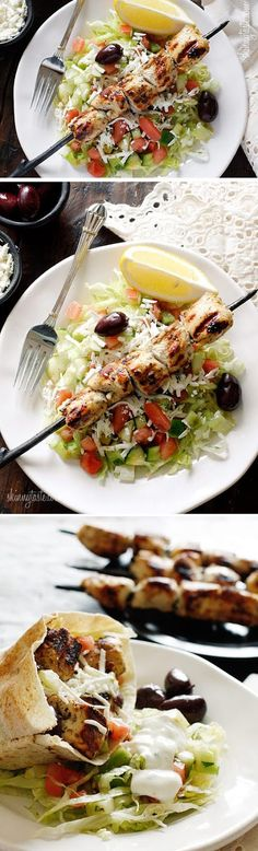 Exclusive Foods: Mediterranean Chicken Kebab Salad