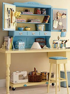 Crafts Rooms -- A Place to Create.  Cherie Spillman Livingston, maybe a little inspiration for you here?