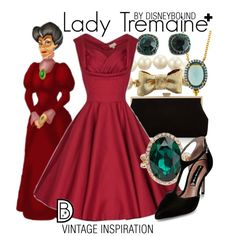 Lady Tremaine + by leslieakay on Polyvore featuring Steve Madden, Monsoon, ALDO, Kate Spade, Freida Rothman, vintage, disney, disneybound and plussize