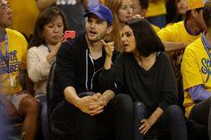 Mila Kunis and Ashton Kutcher - NBA Finals