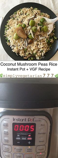 This Instant Pot Coconut Rice is cooked with only 5 main ingredients. It is a fail-proof recipe that is Easy, Efficient and Deliciously Vegetarian cooked in Instant Pot. The best part is that you can personalize it any way that you like. These taste best Vegetarian Platter, Best Vegetarian Recipes, Real Food Recipes, Healthy Recipes, Vegetarian Food, Vegetarian Thanksgiving, Lentil Recipes, Yummy Food, Coconut Rice