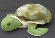 "15"" Green & Cream SEA TURTLE Plush Soft TOY FACTORY Stuffed Toy"
