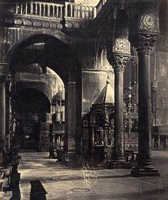 Interior of Church Saint Marco, Venice circa 1880. By Carlo Ponti