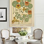 Yellow Flowers And Cane Vine Roller Shade